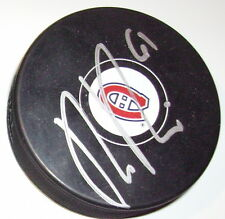 RAPHAEL DIAZ MONTREAL CANADIENS SIGNED HOCKEY PUCK w/ COA