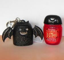 Bath Body Works 2016 BLACK BAT POCKETBAC HOLDER VAMPIRE BLOOD HAND GEL SANITIZER