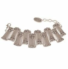 Treaty Jewellery silver plated Freya ornate bohemian bracelet, boho