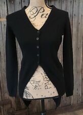 360 Cashmere Cardigan Sweater Womens Extra Small XS black