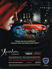 PUBLICITE ADVERTISING 075  2009  LANCIA   YPSILON