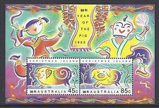 1995 CHRISTMAS ISLAND YEAR OF THE PIG MINI SHEET FINE MINT MNH/MUH
