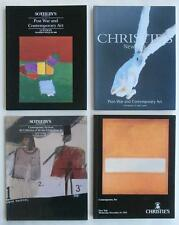 4 Auction Catalogs w/ Contemporary Art Painting (s) Christie's Sotheby's NoRes.!