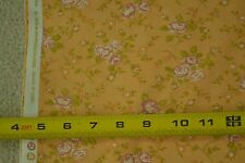 """By-the-Half-Yard, 43"""" Floral on Lt-Orange Quilter's Cotton, Moda/Fig Tree, M5371"""