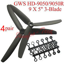 """8pcs GWS HD-9050 9"""" 3-Blade Propeller CW CCW Props for RC MultiRotor Quadcopter"""