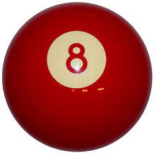 Red 8 Ball Shift Knob 3/8-16 thread U.S. Made