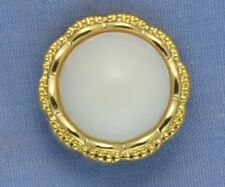 18mm White / Gold Shank Button