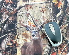Deer Camo Mossy Anti-Slip Laptop PC Mousepad Mice Pad Mat Optical Laser Mouse