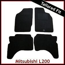 Mitsubishi L200 Mk3 1996-2007 Tailored Fitted Carpet Car Floor Mats BLACK