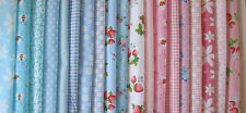 FABRIC LAYERCAKE SQUARES BUNDLE CRAFTS PATCHWORK SEWING SHABBY CHIC 25CM X 25CM