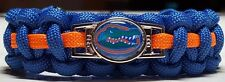 Florida Gators; UFL Orange & Blue Handmade Paracord Bracelet or Lanyard