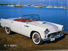 "1888) Classic 1955 T-Bird Prof Color Photo 16x20"" No 8242  Brad Wagner 1985"