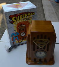SUPERMAN Collectors Edition NOSTALGIC RADIO 1998 MIB Canadian Handcrafted Wood