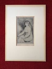 "Pierre-Auguste Renoir ""Baigneuse Assise"" Print 1897 Etching Limited Ed of 525"