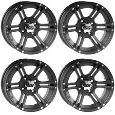 4 ATV/UTV Wheels Set 12in ITP SS212 Matte Black 4/156 4+3 POL