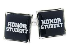 Honor Student Cufflinks Smart School Graduation Gift Books Nerd Ace Test