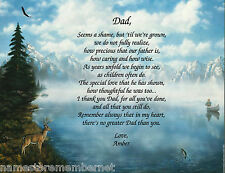 PERSONALIZED POEM FOR YOUR DAD FOR HIS BIRTHDAY, OR FATHER'S DAY **L@@K**