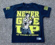John Cena 'Never Give Up' WWE Authentic Shirt ~ Youth Medium M ~ Blue Ring Towel
