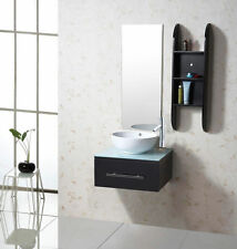 "VIRTU 24"" PRIMO UM-3079 MODERN SINGLE WALL HUNG VANITY BATHROOM CABINET SET"
