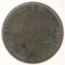 Great Britain Uk Coin 1/2 Penny 1863 Xf-