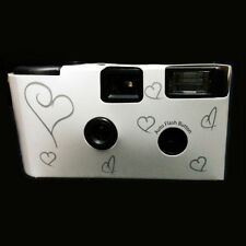1 piece 36exp  HEARTS DISPOSABLE WEDDING Bridal CAMERA WITH FLASH 35mm