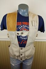 Vintage 50s 10-X Duck Cotton Shooting Hunting Vest, 32