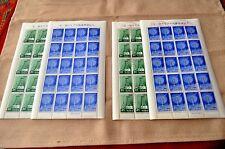 Ryukyu Islands Japan SC#122-123 MNH/OG Stamp Sheets with Error
