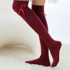 Womens Girls Sexy High Knee Cotton Socks Thigh High Hosiery gift Stocking Sale+