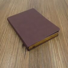 """5x7""""Hard Leather Cover Notebook, Blank Diary, Travel Journal, Sketchbook"""