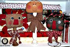 Prim Make Do's PDF Pattern, Annie Belindy Gingerbread 3 Heads R Better Than One