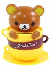 Rilakkuma Brown Bear in a Coffee Mug Japan Figure Solar Toy Gift USA Seller