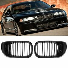 Facelift Matte Black Front Kidney Grille Grill For BMW E46 3 Series 02-05 4Door