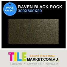 NATURAL STONE GRANITE LOOK CHARCOAL GREY PAVER RAVEN BLACK ROCK 300X600X20
