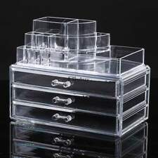 Jewelry Clear Acrylic Makeup Cosmetic Organizer Case Drawers Holder Storage Box