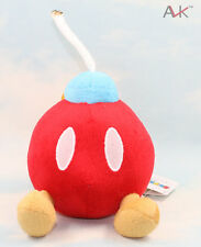 "Super Mario Bros Plush Doll Soft Figure BOB-OMB BOMB 5.5""plush Doll toy Red"