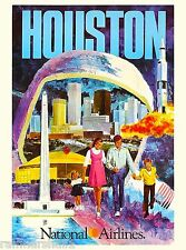 Houston Texas United States America Vintage Travel Advertisement Art Poster