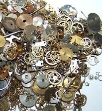 30g Gears 350+ Lot Old Steampunk Watch Parts Pieces Vintage Antique Cogs Wheels