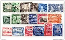 Aden KGVI Collection of 18 Values MH/VFU X285