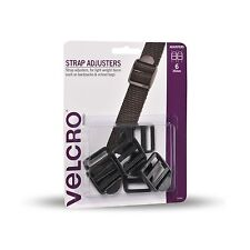 2x VELCRO® Brand STRAP ADJUSTERS 25mm 6Pcs Lockable,For Light Weight Items BLACK