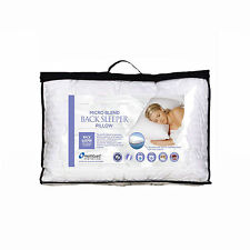 Micro Blend Back Sleeper Pillow with Cotton Cover  -  MADE IN AUSTRALIA