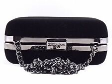GIORGIO ARMANI PARFUMS BLACK VELVET EVENING BAG CROSSBODY CLUTCH PURSE NEW