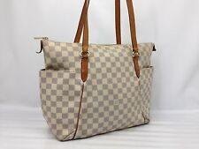 Auth Louis Vuitton Damier Azur Totally PM Tote Bag Shoulder Bag 7C210250m