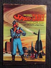1950's Tom Corbett Space Cadet Coloring Book Vg- w/ Cut Outs Complete Saalfield