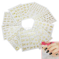 10 Sheets Nail Art Stickers Beauty DIY Manicure Decals Accessories For Women