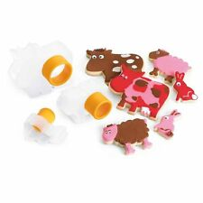 Cuisipro Snap Fit Cookie Cutters 3 Shapes Set nest Baking - FARM ANIMALS