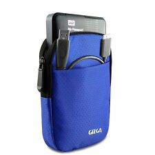 "GIZGA 2.5"" Hard Drive Case - Impact Resistant Jacket Pouch (Navy Blue)"