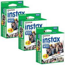 60 Prints Fuji Instax Wide 200 210 300 Instant Color Print Film 3pk Exp 11/2017
