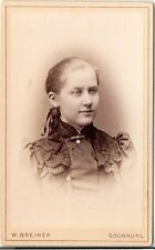 CDV photo Damenportrait - Gronau 1880er