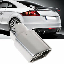 New Universal Stainless Steel Exhaust Pipe Car Exhaust Muffler Square Pipe L0