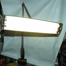 Vintage Mid Century Industrial Magic Arm Floating Florescent Desk Lamp w/ Clamp